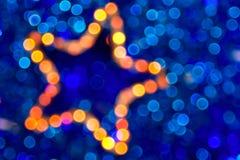 抽象背景boke圣诞节星形 库存照片