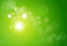 抽象背景bokeh绿色向量 免版税库存照片
