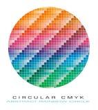抽象背景cmyk色板显示 免版税图库摄影