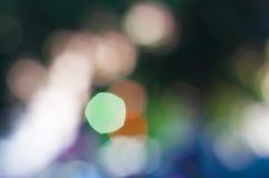 抽象自然绿色弄脏了与bokeh,绿灯bokeh背景的背景 免版税库存图片
