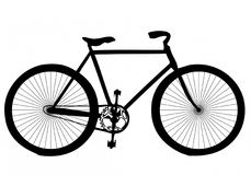 抽象自行车剪影 免版税库存照片