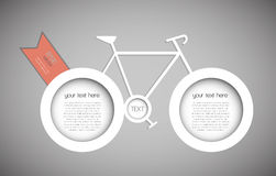 抽象自行车 免版税库存图片