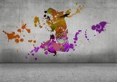 抽象舞蹈演员 免版税图库摄影