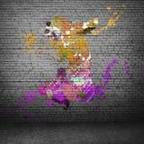 抽象舞蹈演员 库存图片