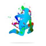 抽象舞蹈演员 免版税库存图片