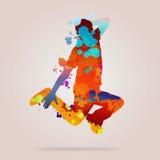抽象舞蹈演员 库存照片