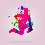 抽象舞蹈演员 免版税库存照片