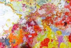抽象色板显示丙烯酸酯的油漆 抽象派Paintin 免版税库存图片