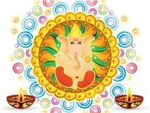 抽象艺术性的五颜六色的艺术性的ganesh chaturthi 图库摄影