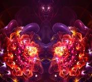 抽象艺术性的分数维3d计算机生成的花分数维艺术品 皇族释放例证