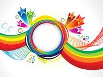 抽象艺术性的创造性的彩虹波浪 皇族释放例证