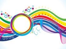抽象艺术性的彩虹线波浪 皇族释放例证