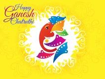 抽象艺术性的ganesh chaturthi背景 库存图片
