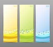 抽象花传染媒介背景/小册子模板/横幅。 库存图片