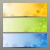 抽象花传染媒介背景/小册子模板/横幅。 免版税库存照片