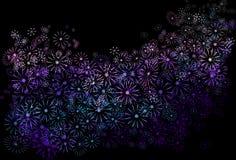 抽象花卉。 免版税库存图片