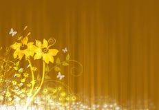 抽象花卉例证 库存例证