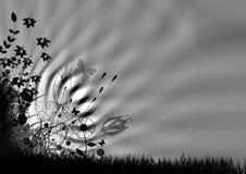 抽象花卉例证 皇族释放例证
