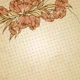 抽象花卉例证 免版税库存图片