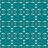 抽象花卉几何无缝的样式 库存例证