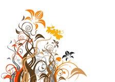 抽象花卉向量 免版税库存照片