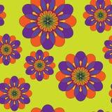 抽象花卉呼吸运动记录器样式 与colorf的无缝的纹理 免版税图库摄影