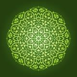 抽象花卉圆样式设计 免版税库存照片