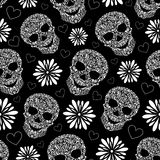 抽象花卉头骨 库存图片