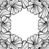 抽象花卉形状传染媒介框架 库存照片