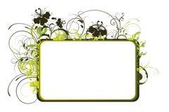 抽象花卉框架 库存照片