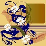 抽象花卉正方形 免版税图库摄影
