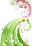 抽象花卉漩涡 向量例证