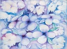 抽象花卉背景或墙纸-水彩 库存照片