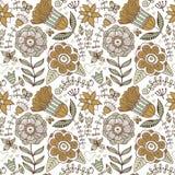 抽象花卉背景,夏天题材无缝的样式, vecto 免版税库存照片
