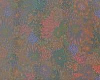 抽象花卉背景,水彩装饰墙壁 库存图片