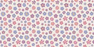 抽象花卉背景-与春天的无缝的样式开花 照顾` s天,妇女` s天和华伦泰` s天 库存例证