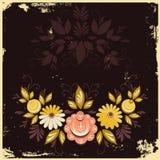 抽象花卉背景 免版税库存照片