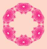抽象花卉花圈 图库摄影