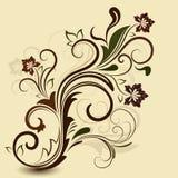 抽象花卉葡萄酒设计 库存照片