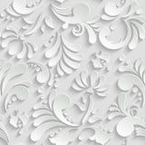抽象花卉3d无缝的样式 免版税库存图片