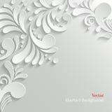 抽象花卉3d背景 免版税库存照片