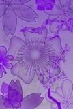 抽象花和工厂 免版税库存照片