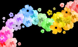抽象花彩虹通知 库存图片