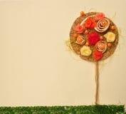 抽象花横向橙树 免版税库存图片