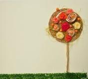 抽象花横向橙树 免版税图库摄影