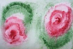 抽象花纸水彩 库存照片