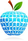 抽象苹果全球技术村庄 免版税库存照片