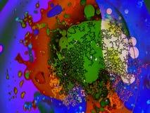 抽象荧光的视觉液体轻的展示 股票录像