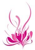 抽象莲花粉红色样式 库存图片