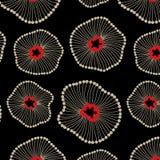 抽象莲花花卉无缝的样式 皇族释放例证
